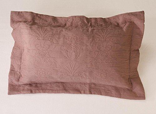 Kissen Wohnen & Accessoires Joli Coussin Lune dans de Finition dans Vieux Rose 50 x 30 cm matelassé avec Classique et Intemporel Ornament Design