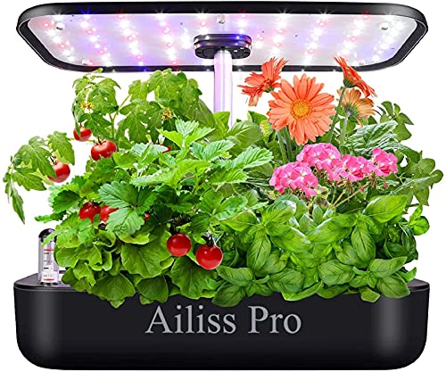 Hydroponics Growing System Newest 12Pods Indoor Herb Garden Kit Indoor Herb Garden Starter Kit Auto...