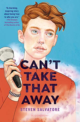 rad head boy with freckles holding a microphone. cover says can't take that away