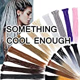 SEGO 20 Inch Dreadlock Extensions for Women/Men Synthetic Handmade Dread Extension Long Single Ended Hippie Style Reggae Hair #Medium Brown 30 strands