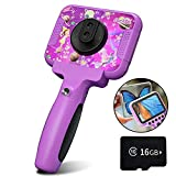 Kids Video Movie Camera, Ourlife Camera - 1080P HD & 60x Macro Dual Len 12MP Toy Camera with 3.5 Inch Large Screen and 16GB TF Card for Children Toddler of Age 3,4,5,6+