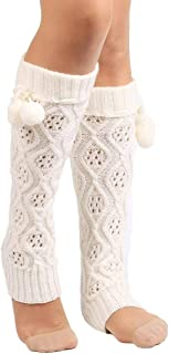 Dama De Las Pierna Calcetines Mujeres Rodilla De Alta Banket Estilo Simple Invierno Tie-Bow Tejido Calentamiento Rmer Legging Otoño Invierno Cómodo Transpirable