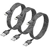 RAVIAD iPhone Ladekabel [3Stück 3M] MFi Zertifiziert Lightning Kabel Nylon Schnellladung iPhone...