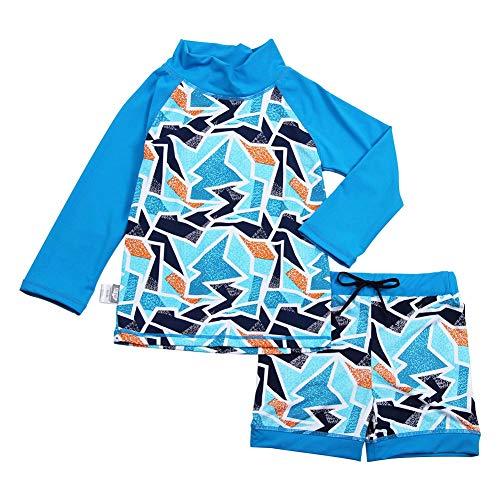Jan & Jul Baby Kleinkind Kinder Ausschlag Schutz UPF 50 Sonnenschutz Shirt und Shorts Set (XL: 3 – 5Y, Eisberg)