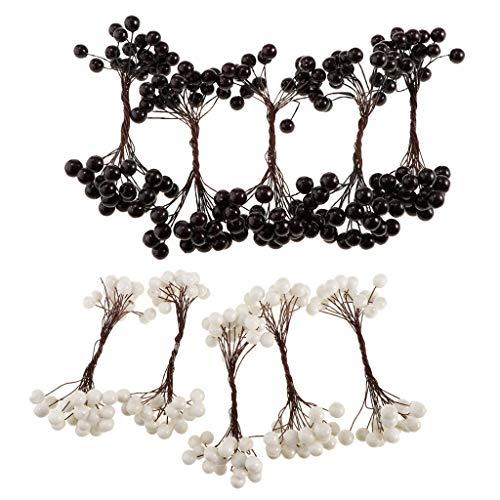 Amuzocity 200x40 Cabezas Arbustos de árboles de Bayas de Frutas Artificiales para La Decoración de La Tienda de Café en Casa