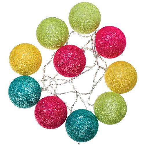 Guirlande lumineuse 10 boules LED multicolore