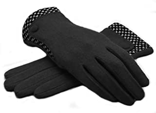 Lenikis Women's Winter Warm Smart Texting Wool Gloves with Touch Screen Fingers
