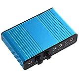 Queen.Y Tarjeta de sonido USB de 6 canales 5.1/7.1 tarjeta de sonido externa USB 2.0 Audio Adaptador óptico para la grabación de canciones K Compatible con Windows 10/8/7/XP