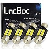 LncBoc 31mm C5W 10LED 4014SMD Plaque Ampoule Festons navette plafonnier Veilleuse voiture lumiere Xenon Blanc...