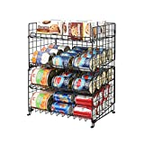 Stackable Can Rack Organizer, 4-Tier Can...