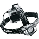 P-TEC - Linterna Frontal de Caucho Frontal de Acampada, Color Negro