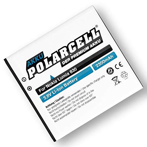 Polarcell Akku Für Nokia Lumia/Microsoft Lumia 540, Lumia 830 (Bv-L4A) 2300Mah/8,74Wh