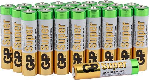 Batterien Micro AAA LR03 Vorratspack 24 Stück GP Batteries Super Alkaline (03024AB24) inklusive praktischer PET Aufbewahrungsbox