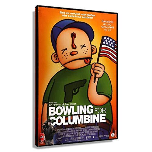 CZFYY Bowling für Columbine, Poster auf Leinwand, Kunstwerk, Wanddekoration, Küche, Poster, Kunstwerk für Schlafzimmer (gerahmt, 60 x 90 cm)