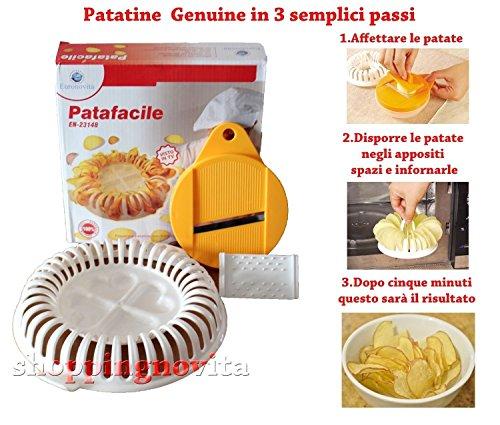Euronovità Srl Pataeinfache Chips für die Herstellung von Chips ohne Öl und Fett in Mikrowelle
