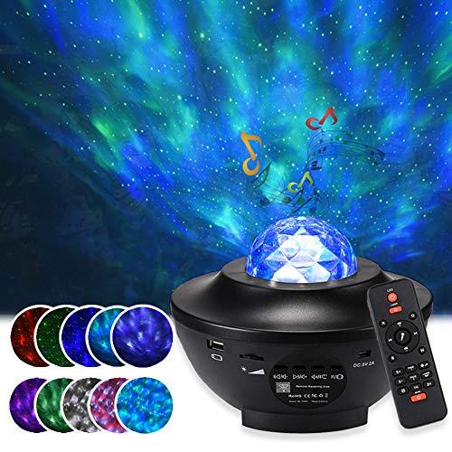 Proyector de Cielo Estrellado LED, Reproductor De MúSica Con Bluetooth Y Temporizador, Luces Nocturnas Con Control Remoto, Perfecto Para Fiestas, NiñOs Y Adultos