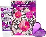 Flor de Mayo, Set de fragancias para mujeres (Cristal Purple Flower) - 2 piezas