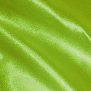Shannon Fabrics Silky Satin Charmeuse Solid Lime Fabric By The Yard
