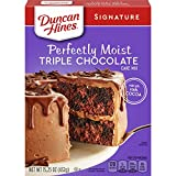 Twelve 15.25 oz boxes of Duncan Hines Signature Perfectly Moist Triple Chocolate Cake Mix Contains cocoa for a rich, velvety flavored layer cake Use for cake pops, chocolate cake cookies or chocolate cupcakes for everyday and special occasions Boxed ...