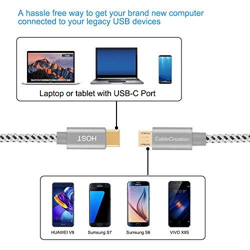 CableCreation USB C auf Micro USB 2.0 Kabel 20cm, OTG Typ-C zu Micro-B Kabel, Hi-Speed 480Mbit/s USB-C Datenkabel Kompatibel mit MacBook (Pro), Galaxy S20, S20+,S8, S9, S10, Pixel 3 XL, 2 XL usw. Grau