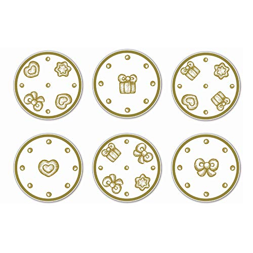 THUN Set 6 sottobicchieri in Sughero Gold Icons