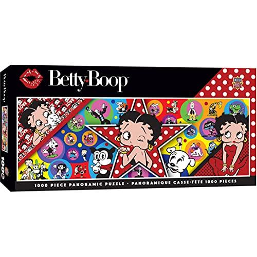 MasterPieces Betty Boop Panorámico Puzle Rompecabezas, Dr. Juguetes 100 Mejor Ganador, 1000 Piezas - Multicolor, 13'x 39'