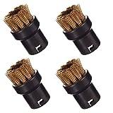 Set di 4 spazzole rotonde in ottone per pulitore a vapore Karcher SC 1 2 3 4 1020