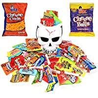 Eva's Gift Universe Halloween Gifts Skull White Bucket with Filled Assorted Candies 1.5 Lbs