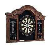 Barrington Billiards Kingsbury Premium Dartboard Cabinet Set, Brown/Black, 41.25'' x 3.75'' x 31''