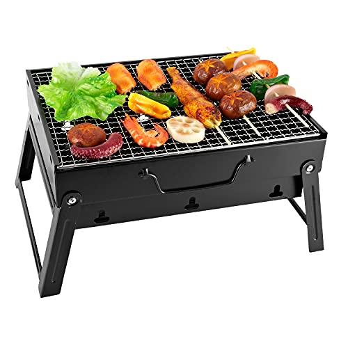 SunJas Barbecue Portable Mini Barbecue à Charbon Pliable...