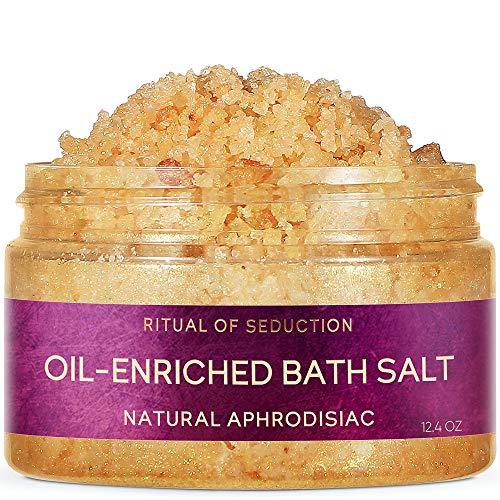 Zeitun Wellness Romantic Natural Bath Salt | Ritual Of Seduction | With Macadamia Oil, Jasmine Essential Oil And Ylang-Ylang | Bath Salts For Relaxation | Dead Sea Salt – 12.7 oz / 250 ml