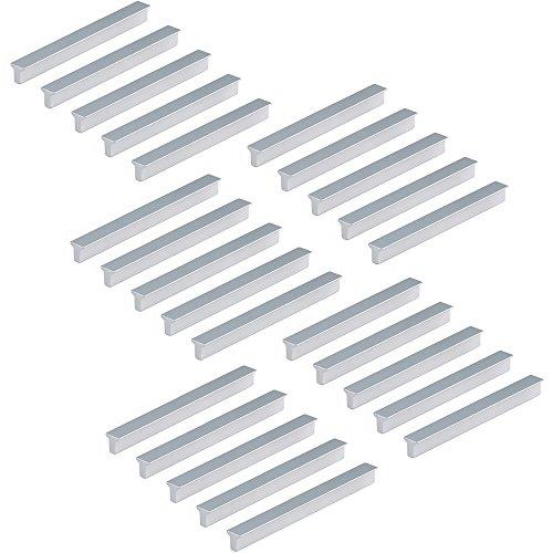 Emuca 9165862 Poignée pour meuble, CC 128mm, aluminium,anodisé mat, Set de 25 pièces