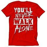 Liverpool Skyline Männer und Herren T-Shirt   Stadt Sport Fussball Trikot Ultras   M2 (L, Rot)