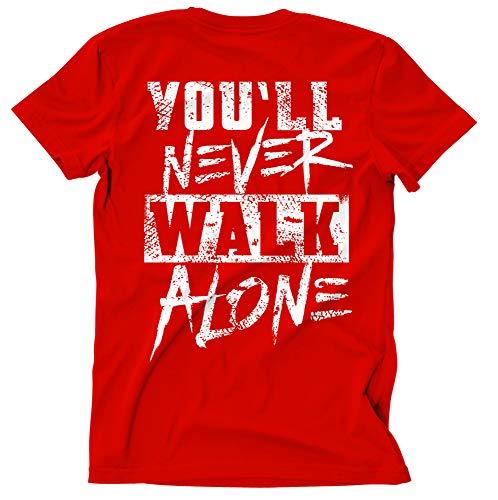 Liverpool Skyline Männer und Herren T-Shirt | Stadt Sport Fussball Trikot Ultras | M2 (L, Rot)