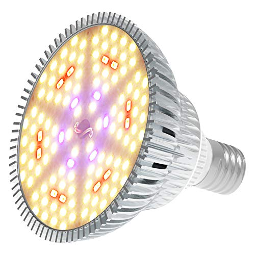 MORSEN LED Grow Light Bulb,120W Sunlike Full Spectrum Grow Lights for Indoor Plants Vegetables and Seedlings Garden Greenhouse and Hydroponic Plants