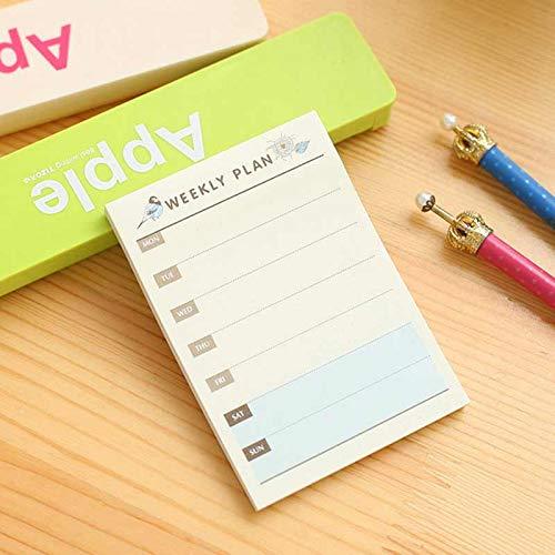 Creative Desktop Day Plan Scratch Pad Leaf Notebook Binder Monthly Plan Weekly Paper Milk Planner Inside Page Do Grid Line