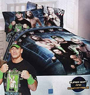 WWE Industrial Strength Full Comforter & Sheet Set (5 Piece Bed in A Bag) + Homemade Wax Melts