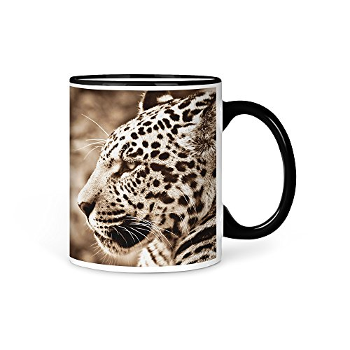 aina Tasse Kaffeetasse Leopard Tier V3