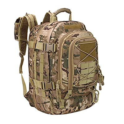 40 - 64 Liter Outdoor 3 Day Expandable Tactical Backpack Military Sport Camping Hiking Trekking Bag School Travel Gym Carrier