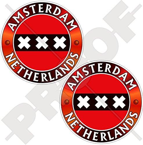 AMSTERDAM Vlag Nederland Nederlands, Nederland 75mm (3