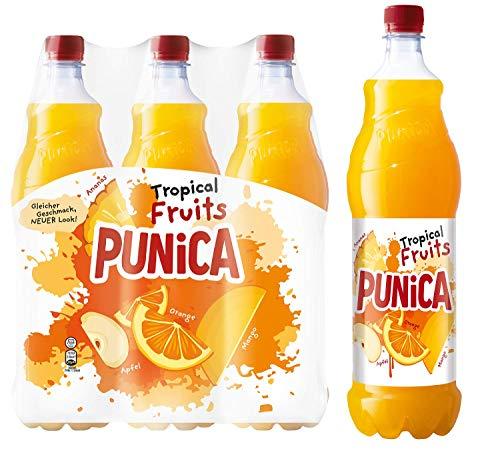 Punica Classic Tropical Fruits – Fruchtig frisches Mehrfruchtsaftgetränk – 6 x 1,25l Flasche