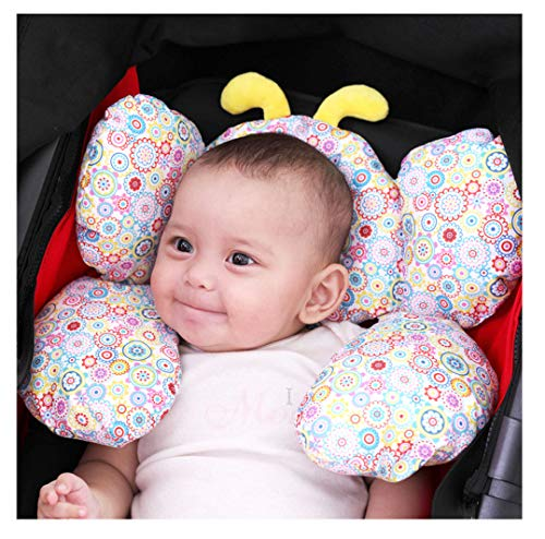 Jitejoe Baby Travel Pillow, Infant Head and Neck Support Pillow for Car Seat, for 0-4 Years Old Baby, Pushchair, Kid's Neck Pillow, Soft and Skin Friendly, Baby Neck Pillow (Butterfly)