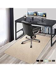 チェアマット 床保護マット 140×90cm PVC Hriiiiya 椅子 マット セルフ粘着 床のキズ防止チェアマット PVC 4mm ゲーミングチェアマット 滑り止め吸音 丸洗い可能可能 カット可能 減らす騒音 傷 防止