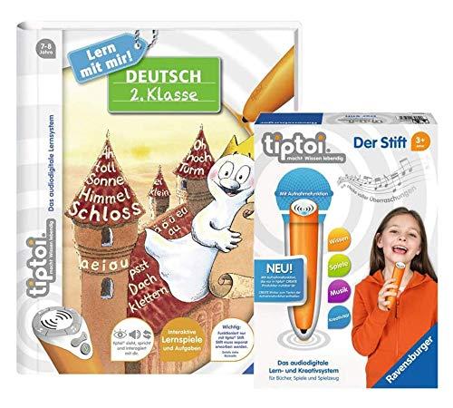 tiptoi Ravensburger Create Buch | Deutsch 2. Klasse + 00801 Stift mit Aufnahmefunktion, für Kinder ab 6 Jahren