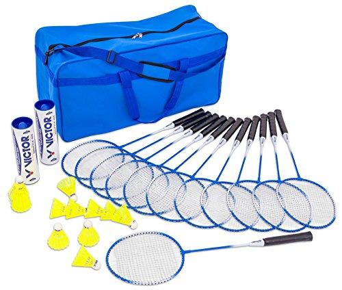 Betzold Sport - Badminton-Set, 12 Schläger + 12 Top-Bälle - Federball Outdoor-Spiel