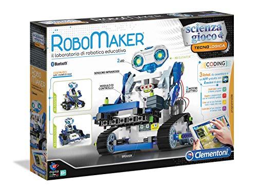 Clementoni- Robomaker New Robot per Bambini, Multicolore, 19132