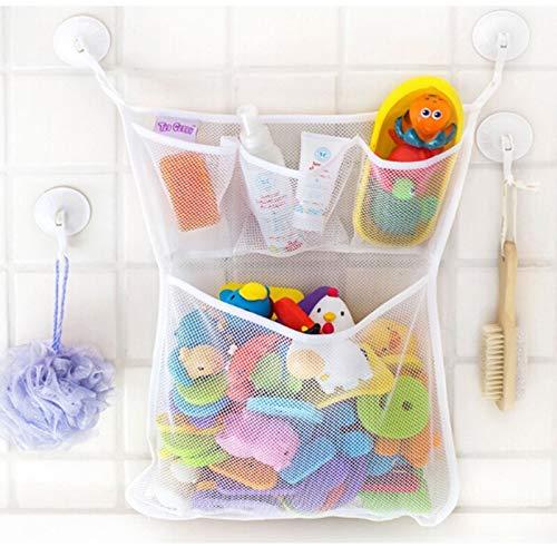 PLASTIFIC Bebé baño malla bolsa niño baño juguete para niños bolsa de succión de red cestas bolsa de almacenamiento para ropa sucia bolsa de transporte