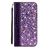 vingarshern Case for Alcatel 3L 2019 Glitter PU Leather