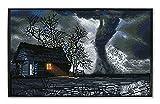 DIAMOND DOTZ DQK10-008 Squares Twister con Marco Negro, 32 x 52 cm Aprox., Pintura de Diamante con Diamantes Brillantes para Manualidades, para niños y Adultos, Multicolor
