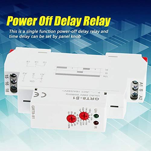 Minuterie de d/élai dextinction type de rail DIN AC 220V GRT8-B1 Minuterie de d/élai dextinction de relais Minuterie de relais